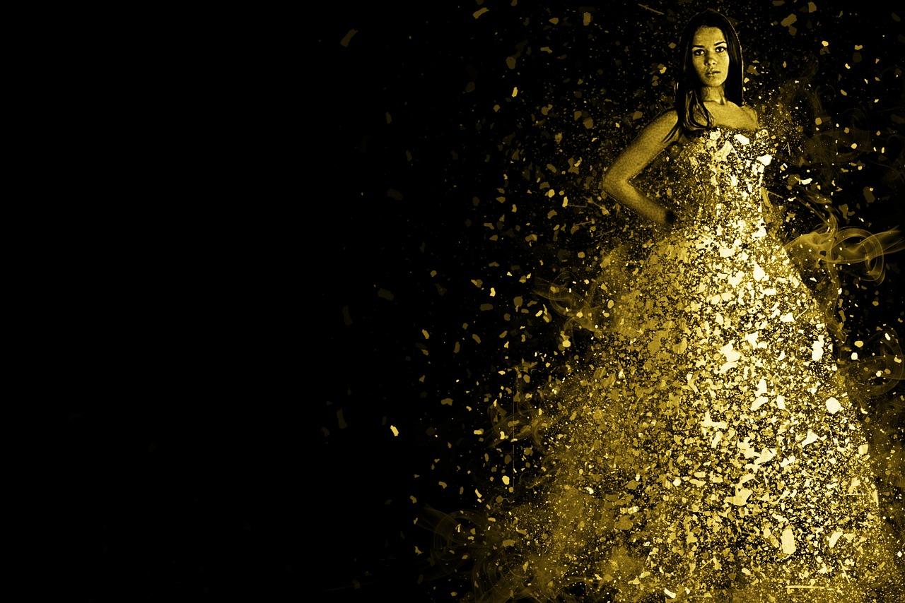 Metallic- Kleider – Gold, Silber, Bronze