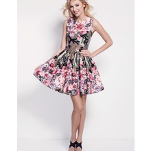 Project Mess Kleid Floral Camo