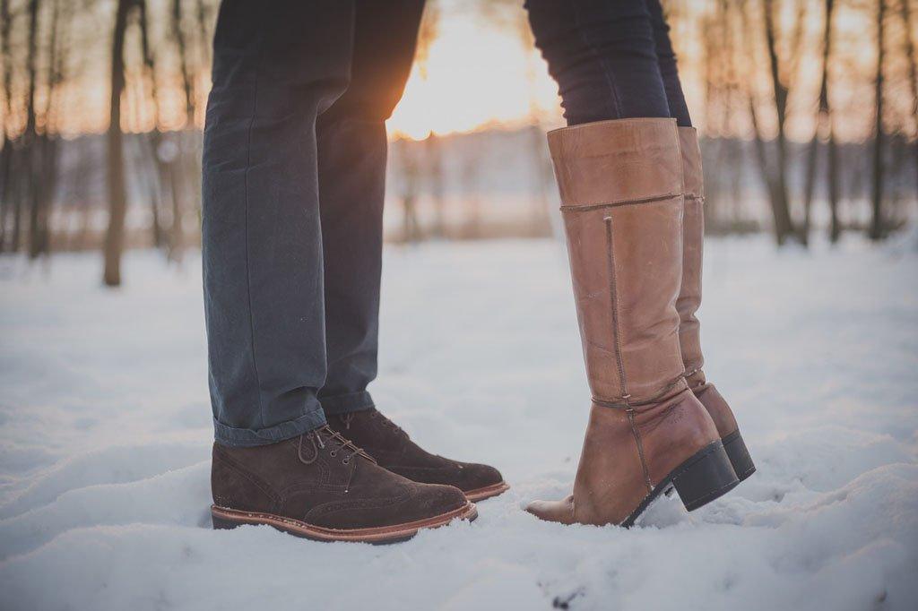 Welche Schuhe zum Kleid im Winter?